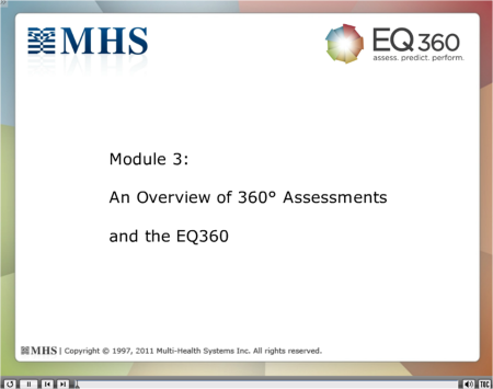 Module 3 An Overview of 360 Assessments and the EQ 360