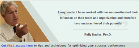 Dr. Relly Nadler - Tips and techniques for optimizing your success performance - sign up here.